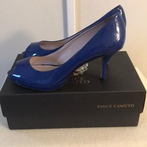 Vince Camuto Blue Patent Heels